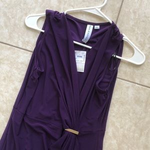 Emma and Michelle Deep Purple Maxi Dress Size S